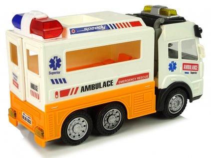 Ambulancia auto na batérie so svetelnými a zvukovými efektami