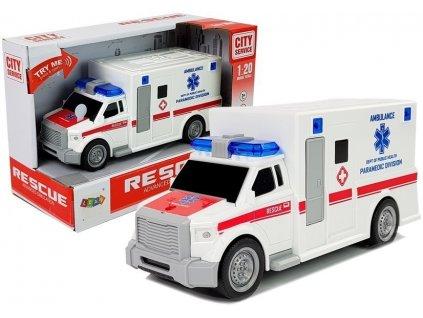 Autíčko Ambulancia Rescue 1:20 Zvukové a svetelné efekty