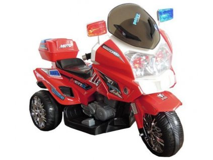 Elektrická policajná motorka POLICE GO CH815 Červená