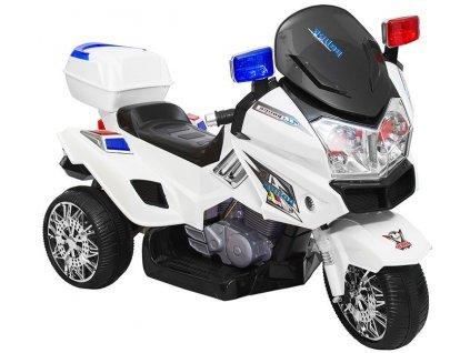Elektrická policajná motorka POLICE GO CH815 Biela