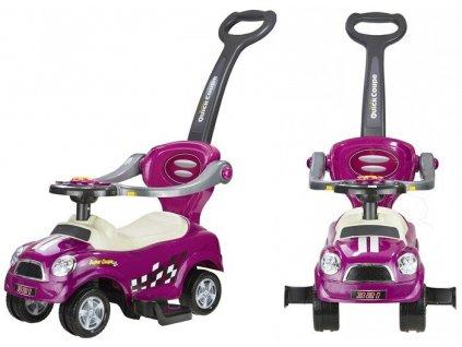 Detské odrážadlo vozidlo Coupe 3v1 - Fialové