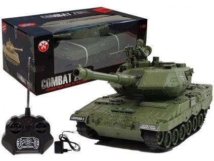 RC Tank Combat Zone Leopard 2 zelený 1:28