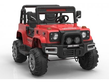 Elektrické auto Racing Jeep BBH-0001 Červené