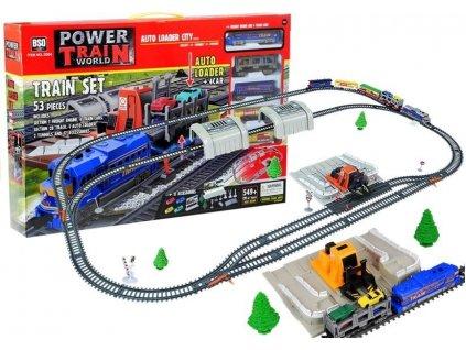 Elektrický vláčik súprava Power Train 549 cm - 4 vagóny