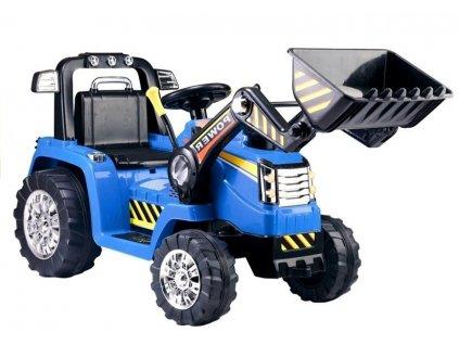 Elektrický traktor POWER s čelným nakldačom ZP1005 modrá farba