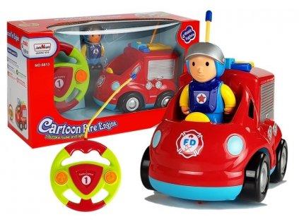 RC autíčko Cartoon s volantom - Hasič