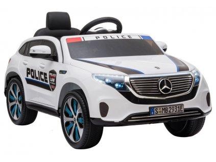 Elektrické auto Mercedes EQC 400 Police - biele