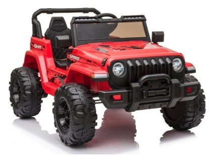 Elektrické auto Jeep Wran CH9956 Červené