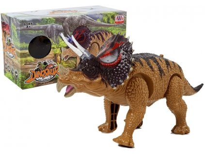 Dinosaur Triceratops Battery Operated Yellow