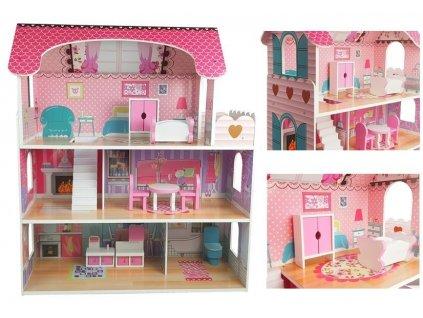 Drevený domček pre bábiky Villa Milena