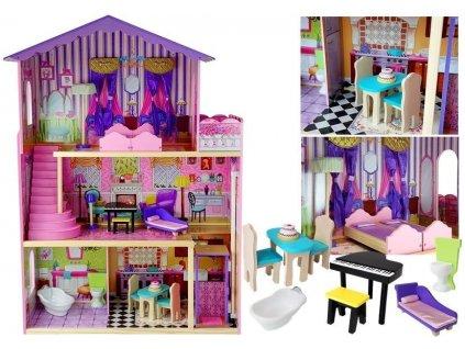 Drevený domček pre bábiky Villa Stella 126 cm