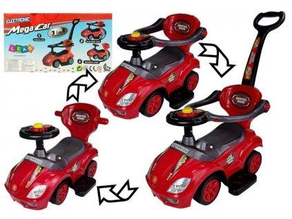 Odrážadlo Mega Car 3v1 - červené