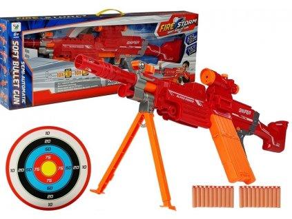 Fire Storm puška na penové náboje s terčom