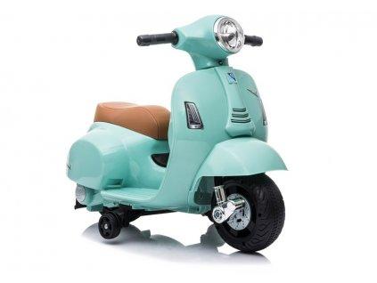 Elektrická motorka Mini skúter Vespa GTS 300 tyrkysová