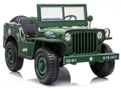 Elektrické auto Jeep Willis 4x4 Army JH101 Zelený