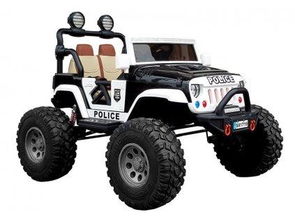 Elektrické auto Jeep POLICE SX1719 4x4 Čierny