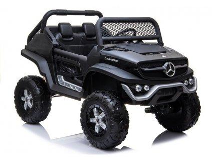 Elektrické auto Mercedes Unimog 4x4 Čierne