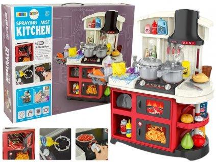 Detská kuchynka s rúrou, efekty svetlo zvuk a para