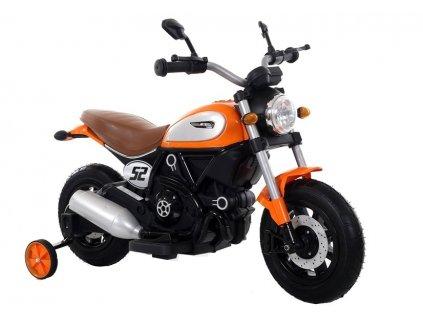 Elektrická motorka Scrambler Qk307 oranžová