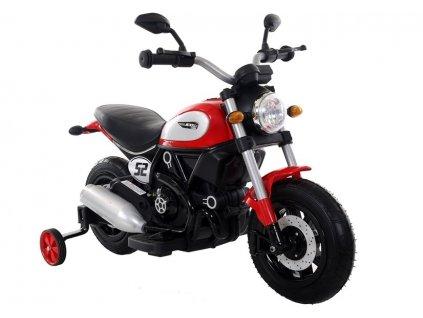 Elektrická motorka Scrambler Qk307 červená