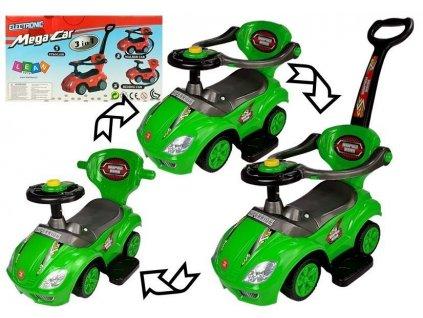 Odrážadlo Mega Car 3v1 - zelené