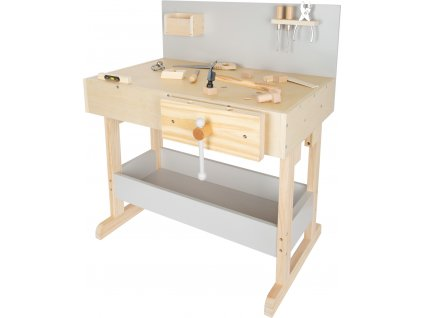 Small Foot Detský pracovný stôl šedý s náradím