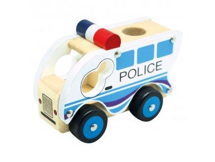 Bino Drevené auto polícia