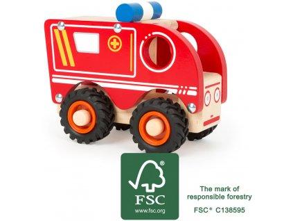 Small Foot Drevené auto Ambulancia
