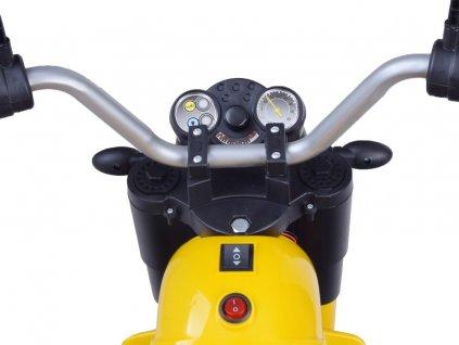 Elektrická motorka MiniBike biela 01