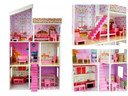 Drevený domček pre bábiky KLAUDIE malypretekar (1)