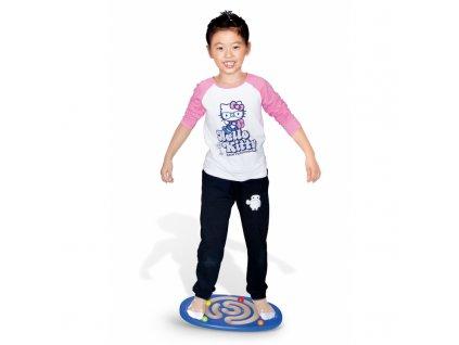 Viga Toys Drevená senzomotorická doska na balansovanie malypretekar (3)