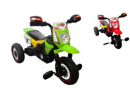 Šľapacia motorka M5 zelená trojkolka 01