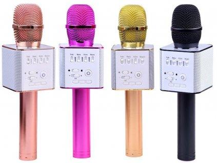 Bezdrôtový mikrofón s USB, BLUETOOTH (Farba vozidla Svetlo ružová)