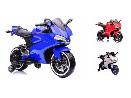 Elektrická motorka SX1628 LED svietiace kolesá (Farba vozidla Modrá)