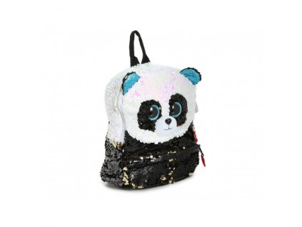 TY FASHIO SEQUINS Veľký detský batoh s flitrami BAMBOO Panda