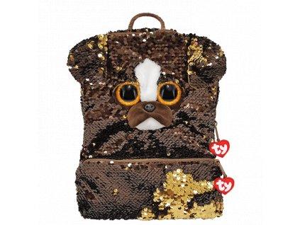 TY FASHIO SEQUINS Veľký detský batoh s flitrami BRUTUS Pes 1