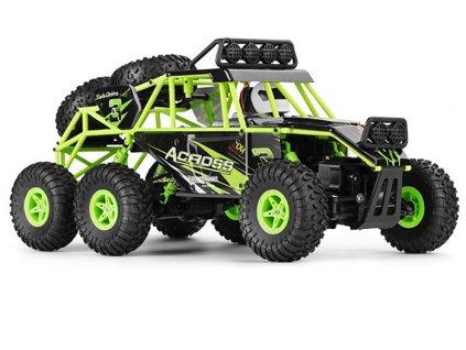 RC RC BUGGY 6x6 NQD malypretekar zelený rýchlosť 10 m h dosah 80 m RC modely (1)