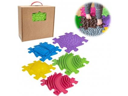 ASKA Senzomotorický koberec pre deti set 5 ks puzzle (1)