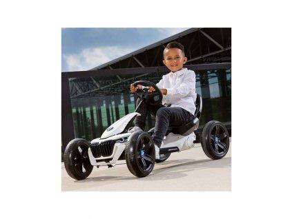 BERG GOKART Šliapacia kára na pedále REPPY BMW do 40 kg kára na pedále pre deti BMW nafukovacie kolesá penové kolesá (1)
