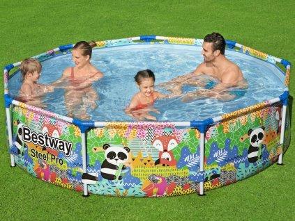Bestway Farebný detský bazén 274 cm x 66 cm PANDA 5612F (4)