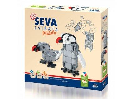 SEVA Stavebnica Seva Zvieratá Vtáčik 347 ks dielikov detská stavebnica lego kocky pre deti (1)
