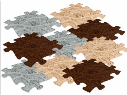 ASKA Senzomotorický koberec KORENE ROOTS SET 9 ks puzzle