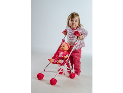 Golfový kočík pre bábiky HANNA kočíky pre bábiky hračkársky kočík (4)