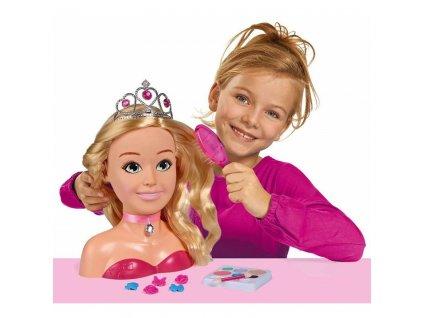 SIMBA Česacia hlava bábiky LENKA hlava na česanie pre dievčatá (1)