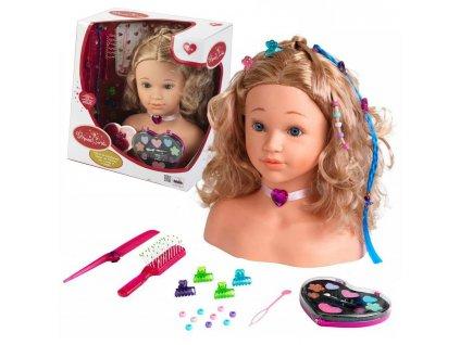 KLEIN Česacia hlava bábiky TATIANKA hlava na česanie (11)