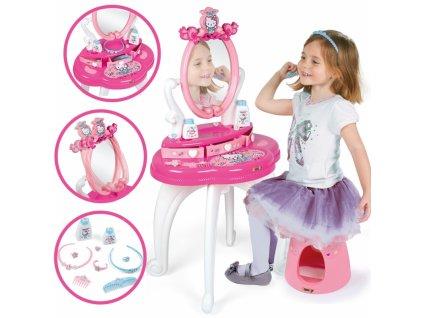 SMOBY Dievčenský toaletný stolík 2v1 HELLO KITTY kozmetický stolík pre dievča kozmetický stolík hračkársky (7)