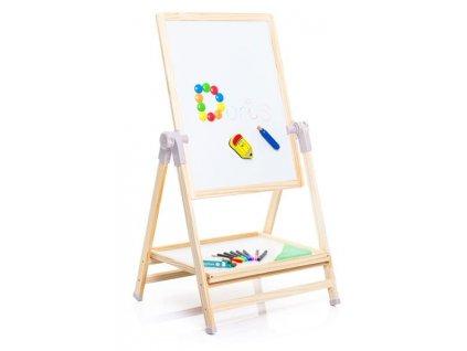 DORI Drevená obojstranná tabuľa 2v1 kriedová a magnetická strana KARLA kriedová tabuľa pre deti magnetická tauľa pre deti (2)