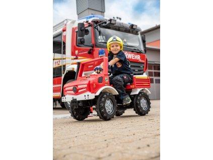 Rolly Toys Šliapacie hasičské vozidlo UNIMOG FIRE 2020 šliapací traktor pre deti hasičské vozidlo pre dieťa (12)