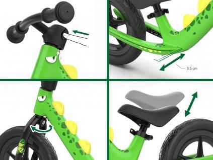 RoyalBaby Detské bicyklové bežecké odrážadlo DINO penové kolesá detské odrážadlo detský bežecký bicykel 01