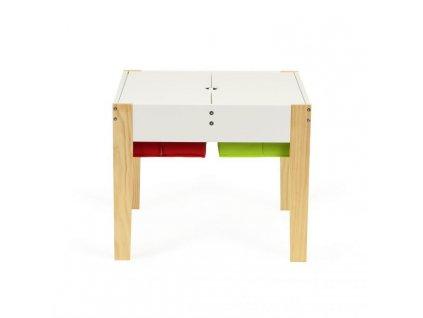 EcoToys Detský drevený stolík s dvoma stoličkami MIŠKO (4)